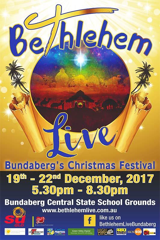 Bethlehem Live Bundaberg 2017 sign
